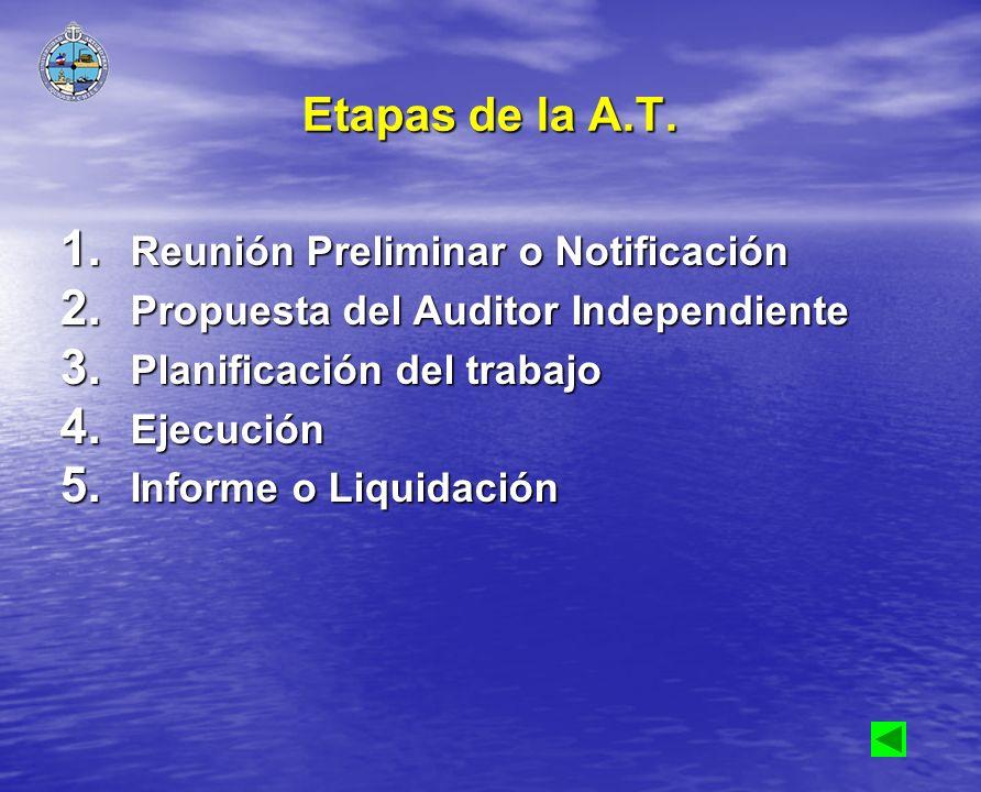 Etapas de la A.T. Reunión Preliminar o Notificación
