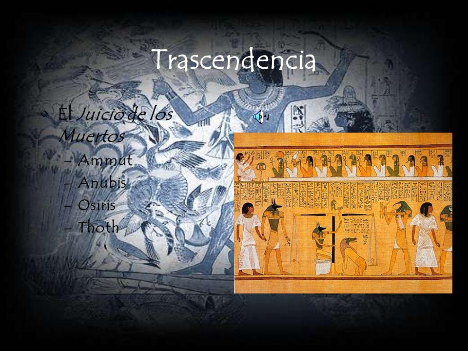 Trascendencia El Juicio de los Muertos Ammut Anubis Osiris Thoth
