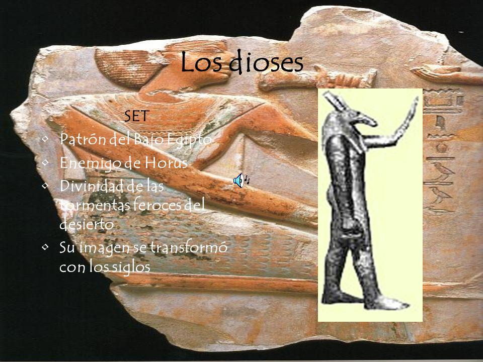 Los dioses SET Patrón del Bajo Egipto Enemigo de Horus