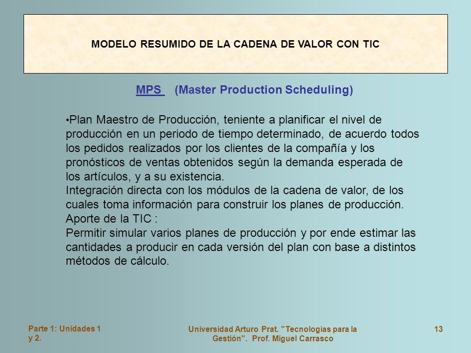 MPS (Master Production Scheduling)
