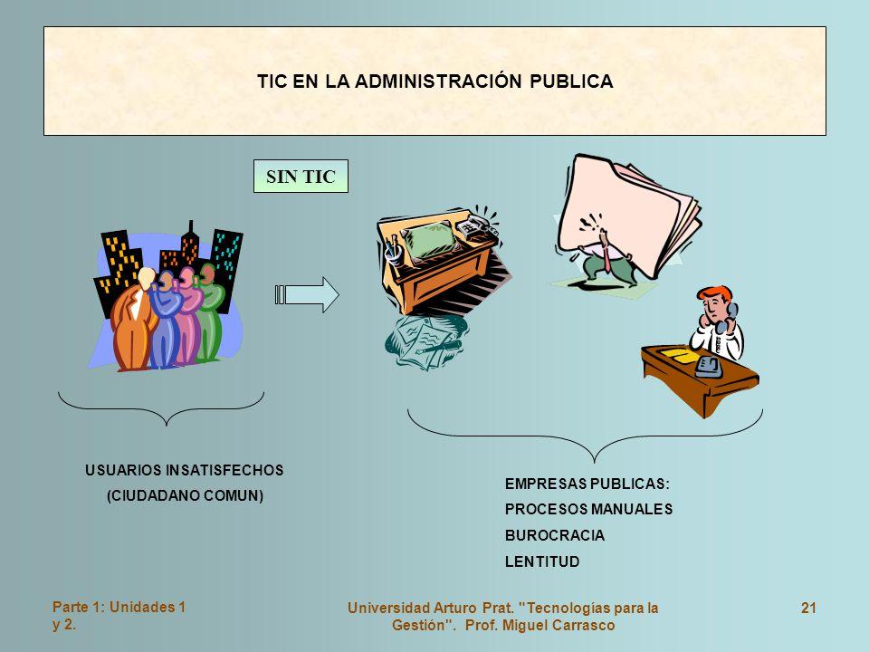 TIC EN LA ADMINISTRACIÓN PUBLICA USUARIOS INSATISFECHOS