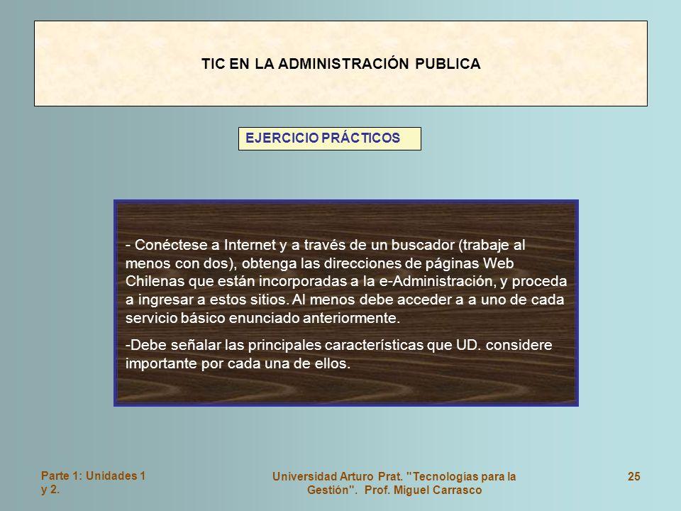 TIC EN LA ADMINISTRACIÓN PUBLICA