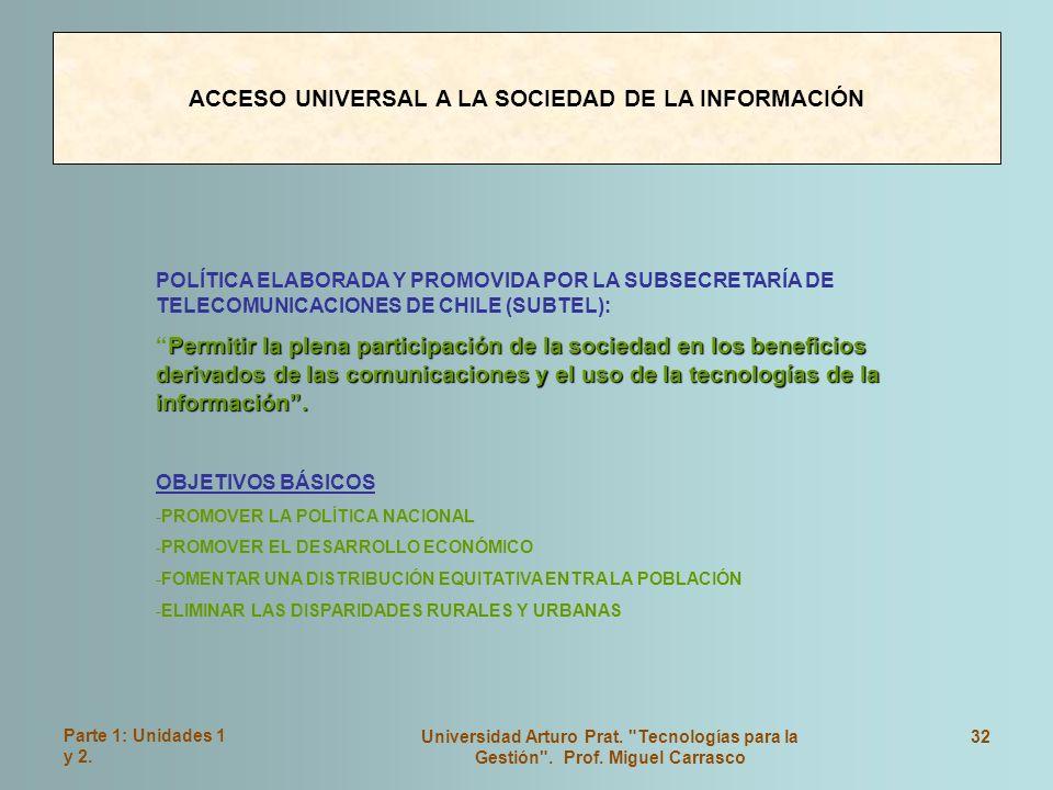 ACCESO UNIVERSAL A LA SOCIEDAD DE LA INFORMACIÓN