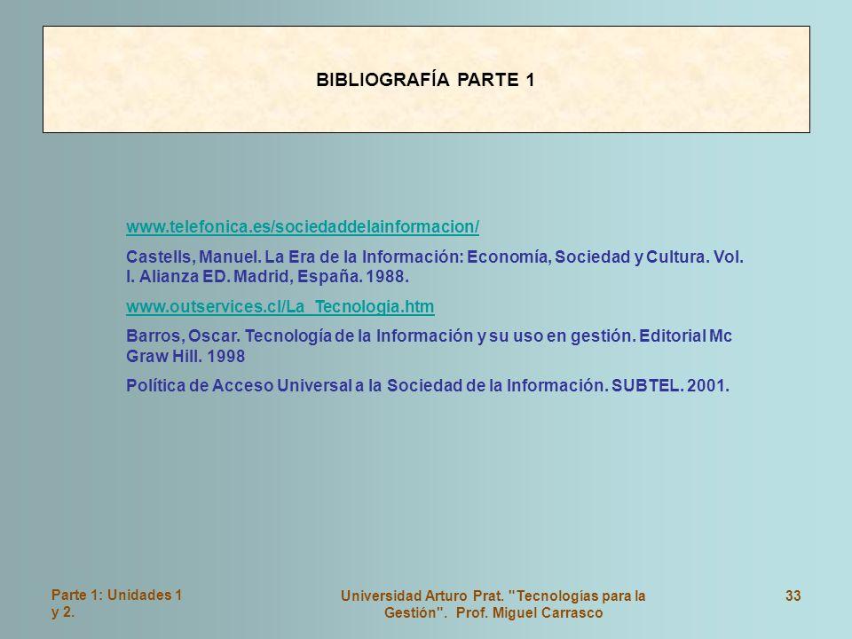 BIBLIOGRAFÍA PARTE 1 www.telefonica.es/sociedaddelainformacion/