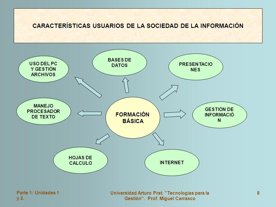 CARACTERÍSTICAS USUARIOS DE LA SOCIEDAD DE LA INFORMACIÓN