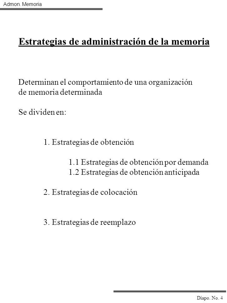 Estrategias de administración de la memoria