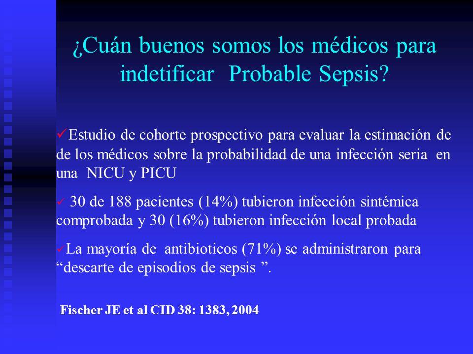 ¿Cuán buenos somos los médicos para indetificar Probable Sepsis