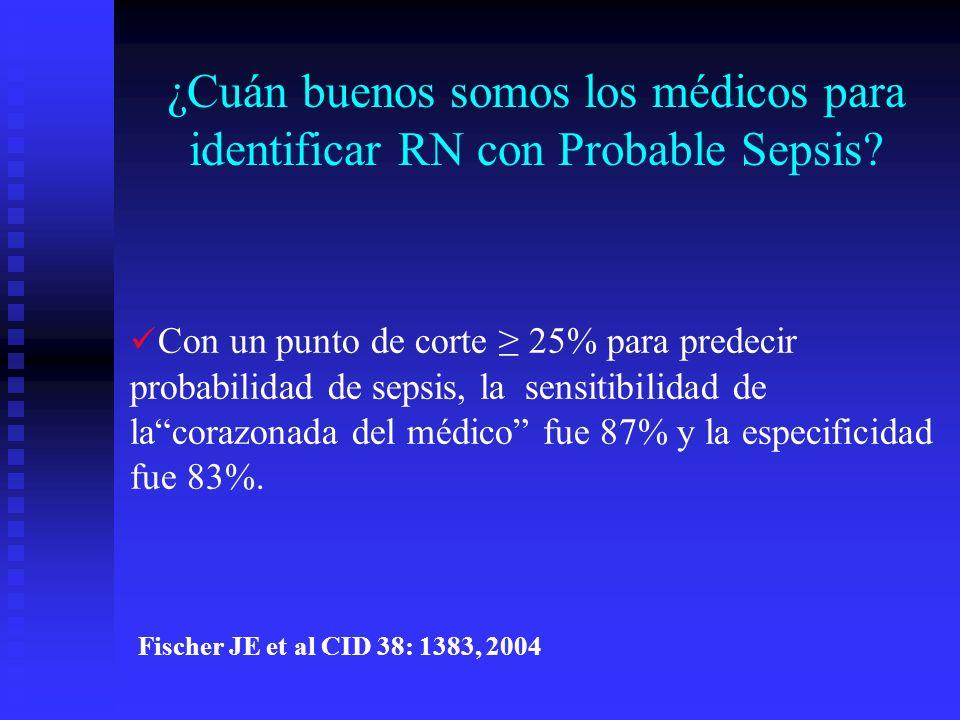 ¿Cuán buenos somos los médicos para identificar RN con Probable Sepsis