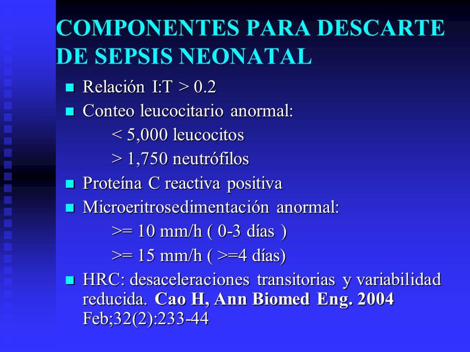 COMPONENTES PARA DESCARTE DE SEPSIS NEONATAL