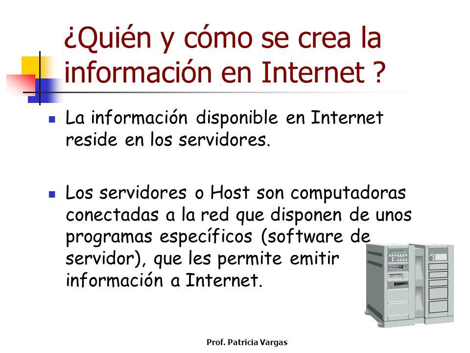 ¿Quién y cómo se crea la información en Internet
