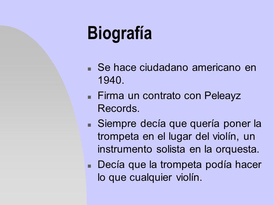 Biografía Se hace ciudadano americano en 1940.