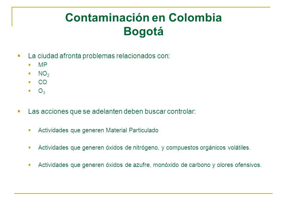 Contaminación en Colombia Bogotá