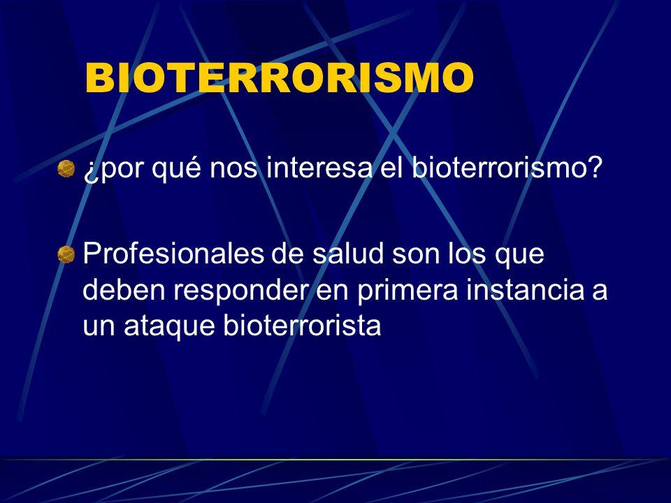 BIOTERRORISMO ¿por qué nos interesa el bioterrorismo