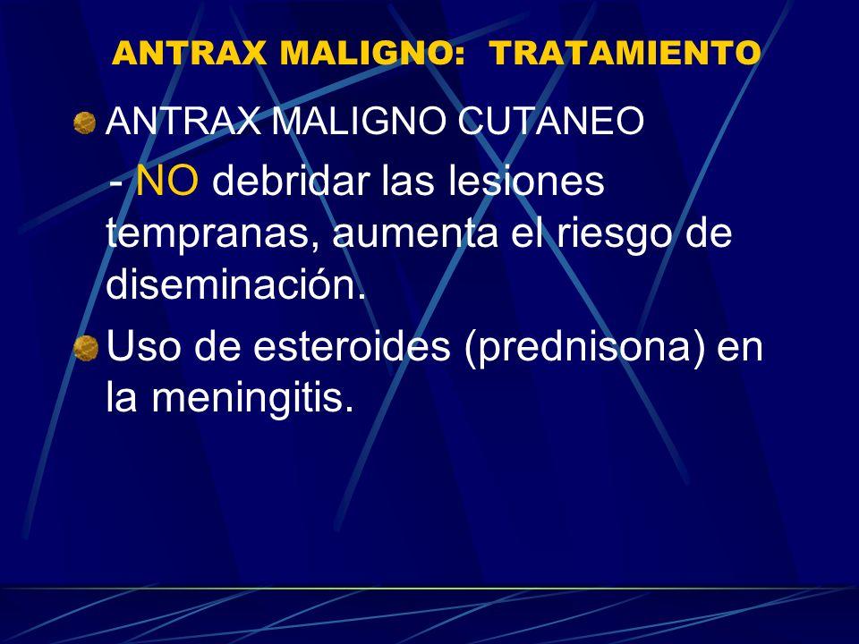 ANTRAX MALIGNO: TRATAMIENTO