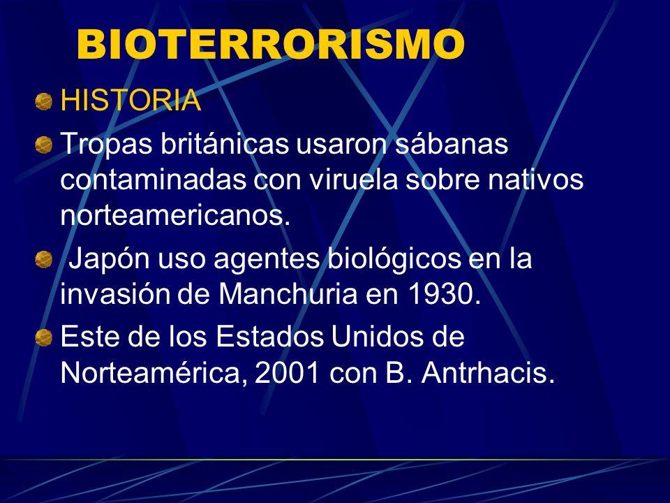 BIOTERRORISMO HISTORIA