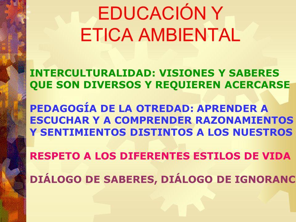 EDUCACIÓN Y ETICA AMBIENTAL