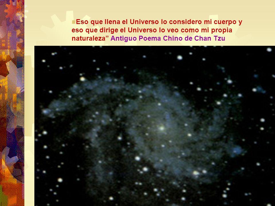 Eso que llena el Universo lo considero mi cuerpo y eso que dirige el Universo lo veo como mi propia naturaleza Antiguo Poema Chino de Chan Tzu