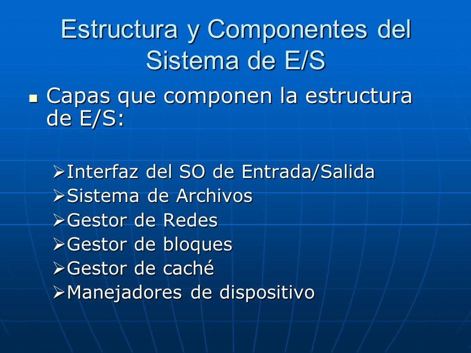 Estructura y Componentes del Sistema de E/S