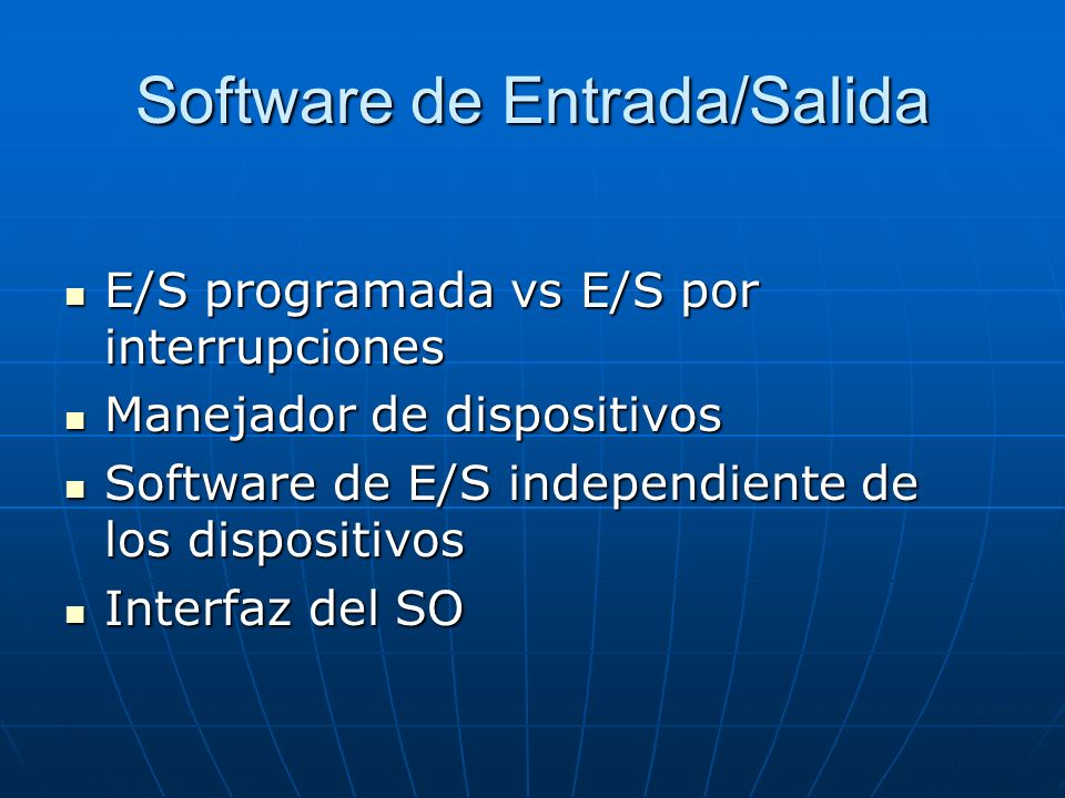 Software de Entrada/Salida