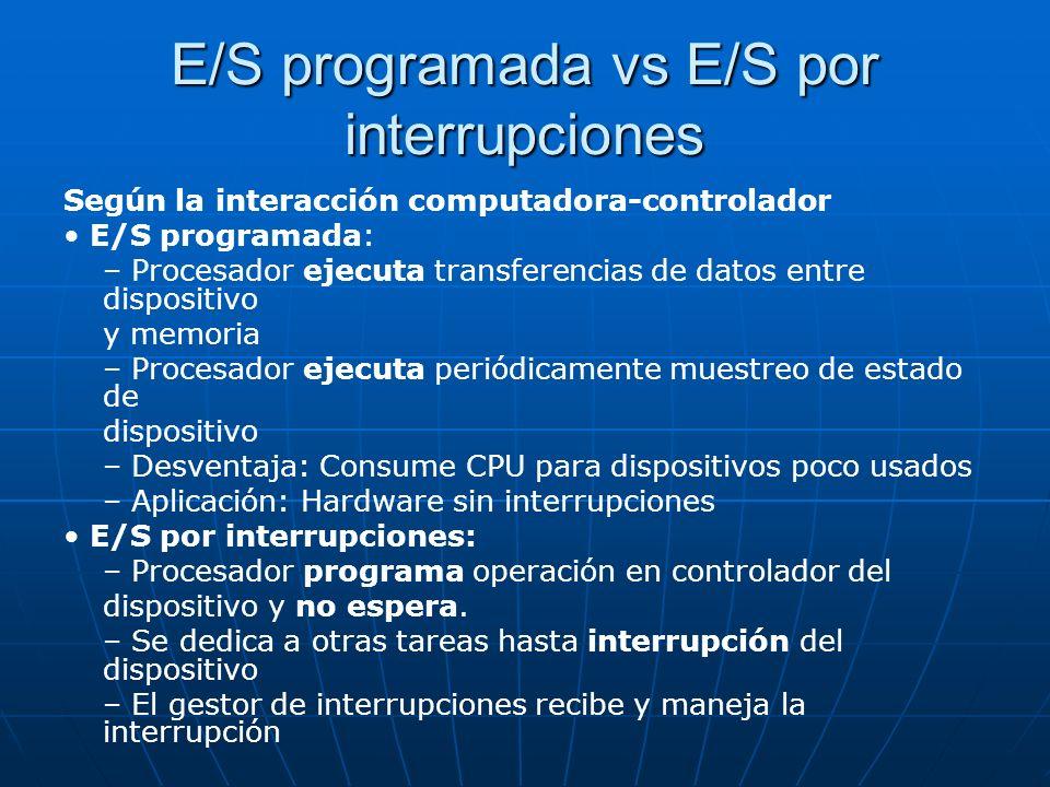 E/S programada vs E/S por interrupciones