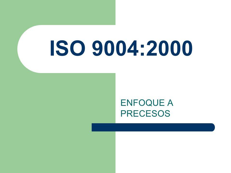 ISO 9004:2000 ENFOQUE A PRECESOS