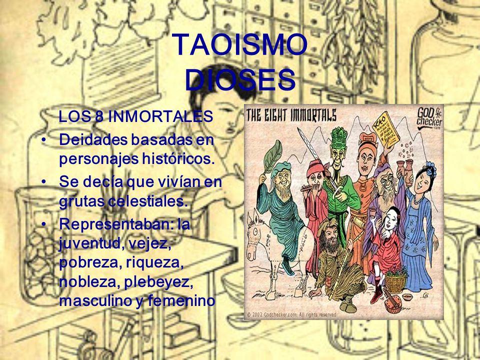 TAOISMO DIOSES LOS 8 INMORTALES