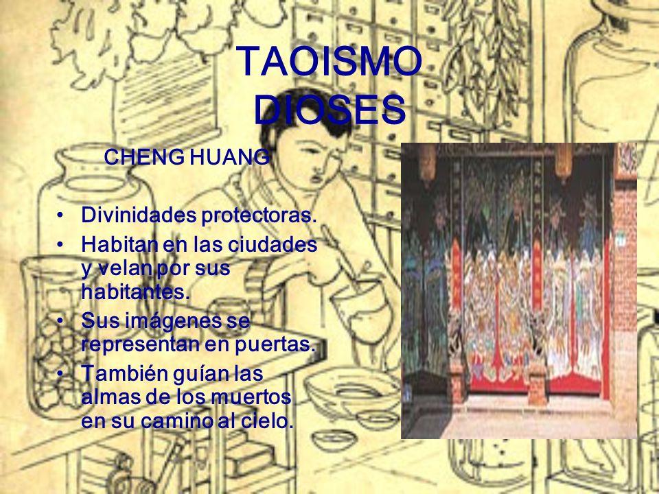 TAOISMO DIOSES CHENG HUANG Divinidades protectoras.