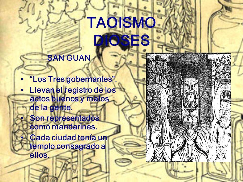 TAOISMO DIOSES SAN GUAN Los Tres gobernantes .