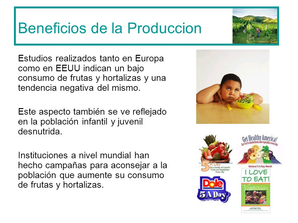 Beneficios de la Produccion
