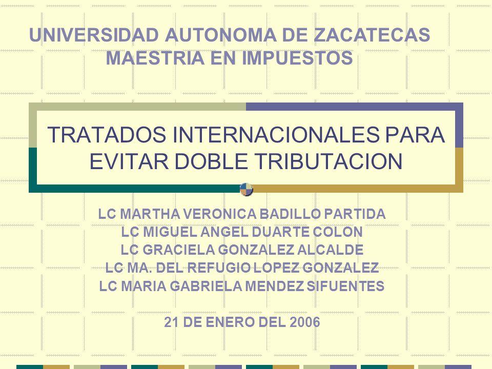 TRATADOS INTERNACIONALES PARA EVITAR DOBLE TRIBUTACION