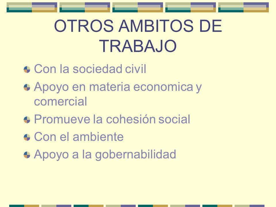 OTROS AMBITOS DE TRABAJO