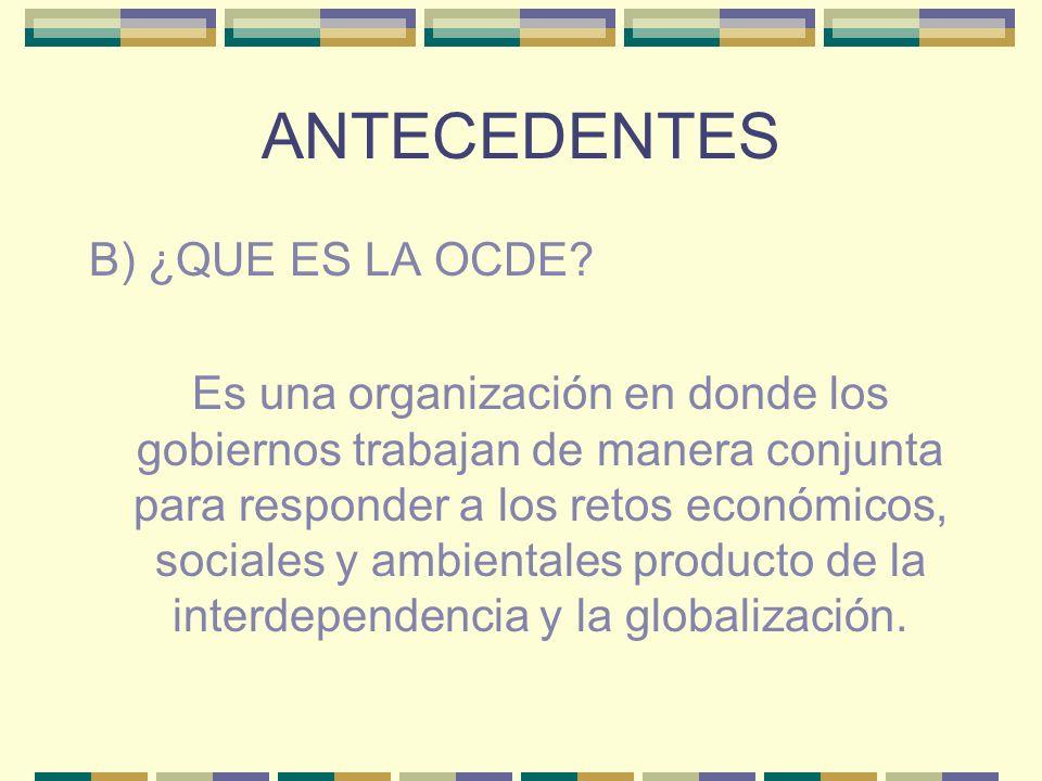 ANTECEDENTES B) ¿QUE ES LA OCDE