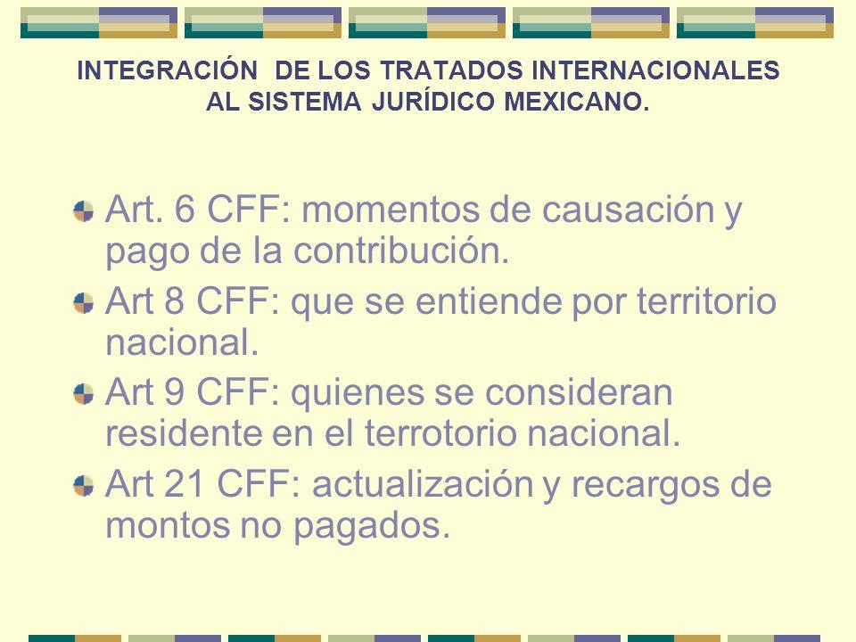 Art. 6 CFF: momentos de causación y pago de la contribución.