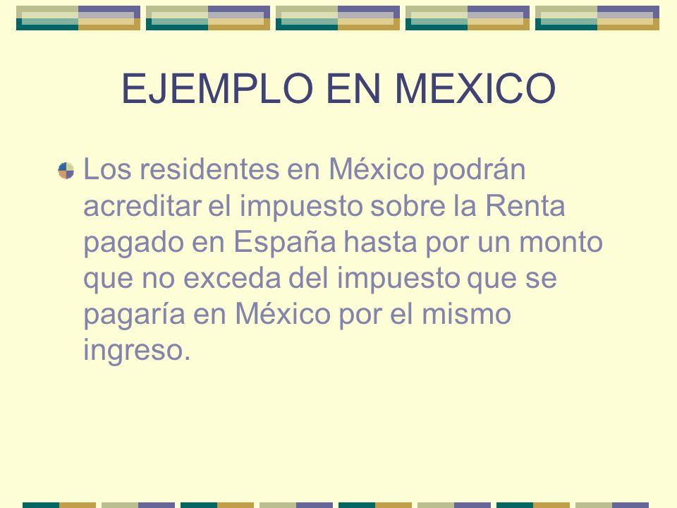 EJEMPLO EN MEXICO