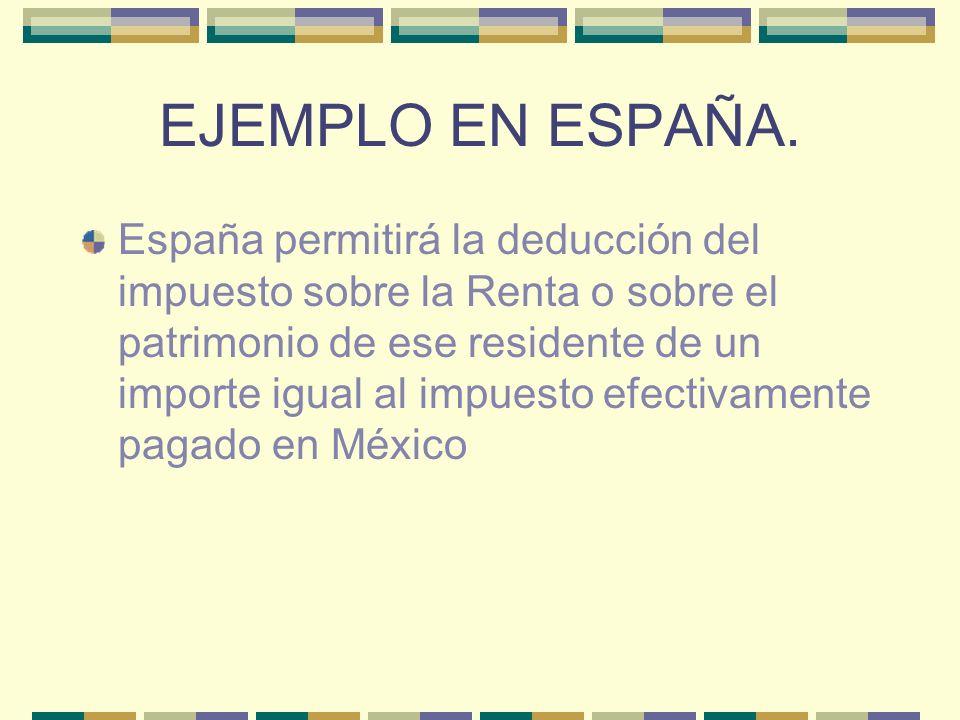 EJEMPLO EN ESPAÑA.
