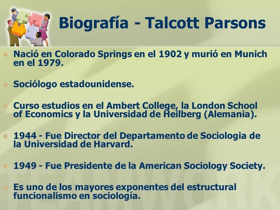Biografía - Talcott Parsons