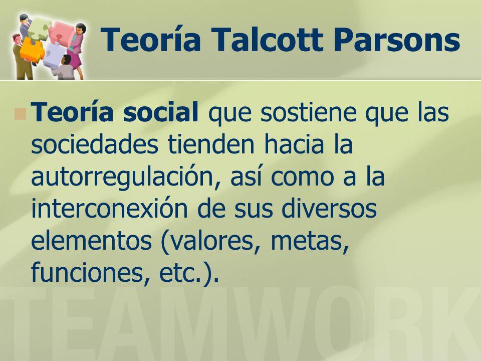 Teoría Talcott Parsons