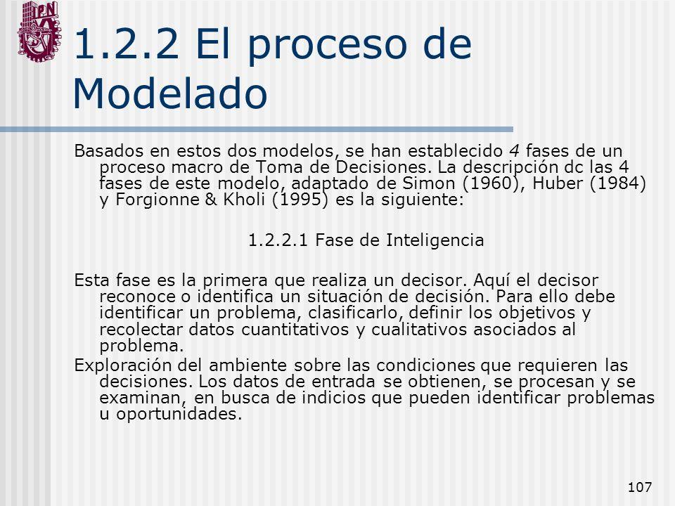 1.2.2 El proceso de Modelado