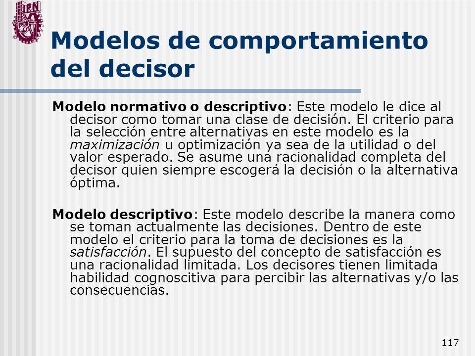 Modelos de comportamiento del decisor