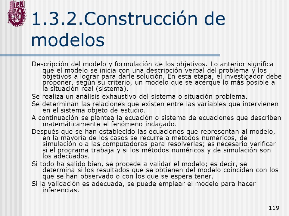 1.3.2.Construcción de modelos