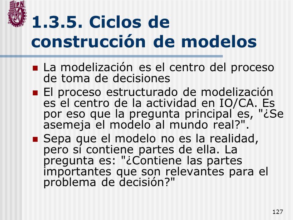 1.3.5. Ciclos de construcción de modelos