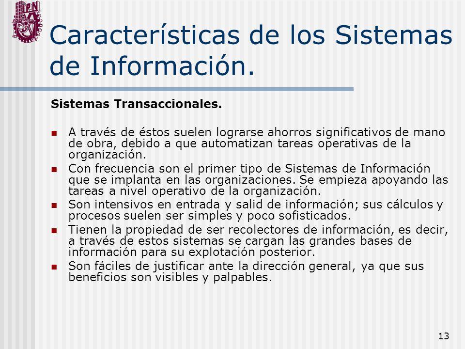 Características de los Sistemas de Información.