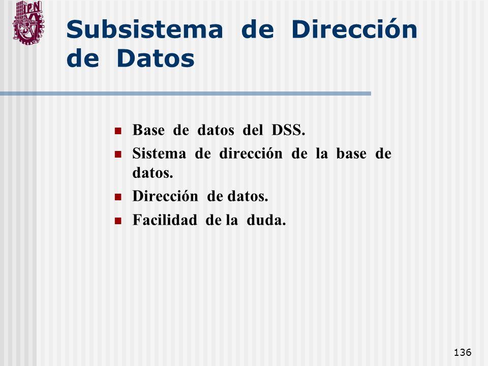 Subsistema de Dirección de Datos