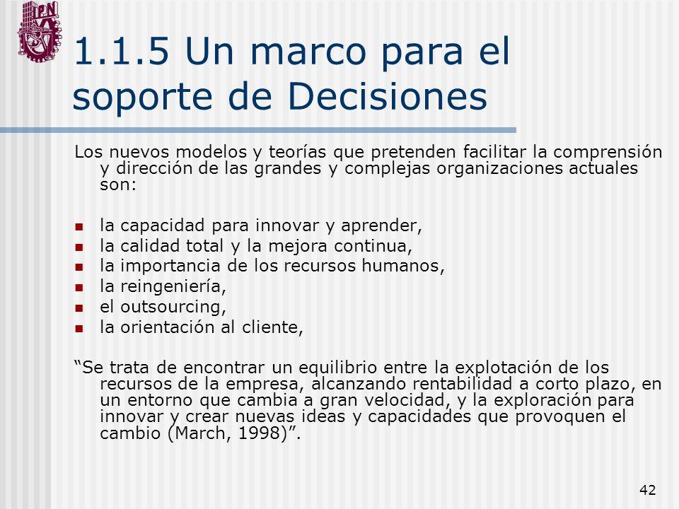 1.1.5 Un marco para el soporte de Decisiones
