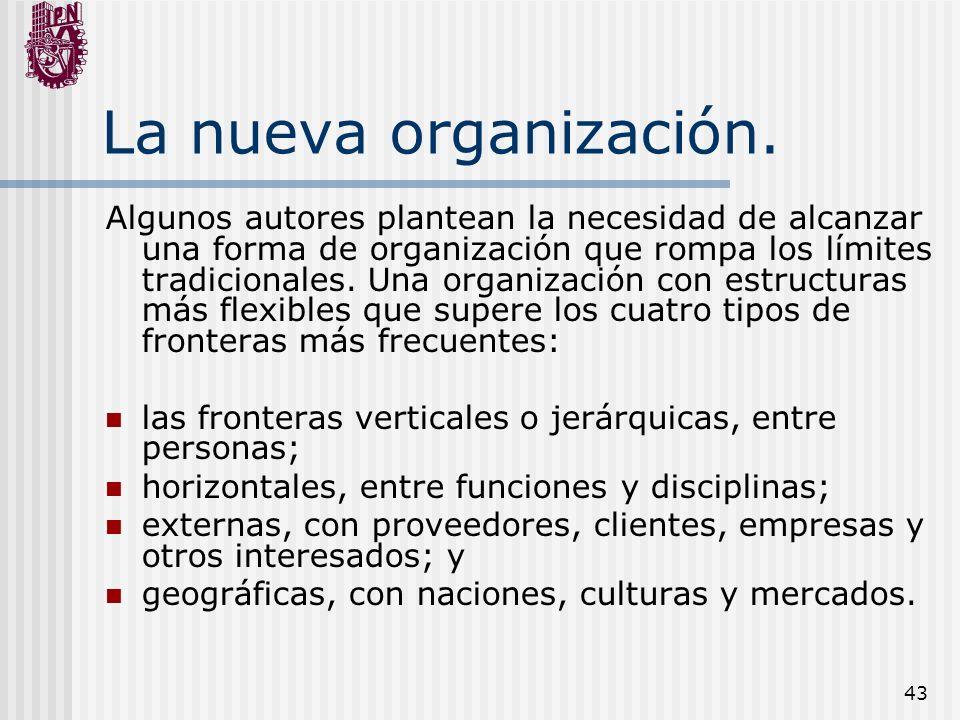 La nueva organización.
