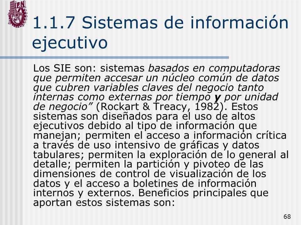 1.1.7 Sistemas de información ejecutivo