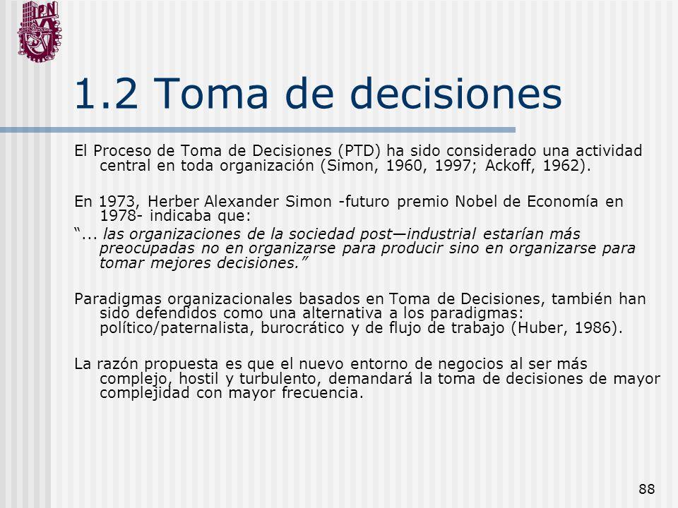 1.2 Toma de decisiones