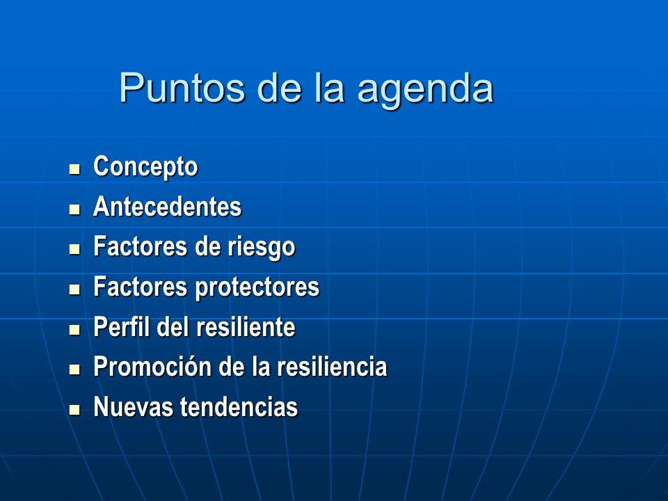 Puntos de la agenda Concepto Antecedentes Factores de riesgo