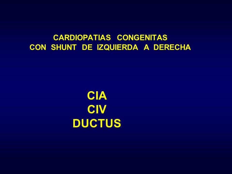 CARDIOPATIAS CONGENITAS CON SHUNT DE IZQUIERDA A DERECHA