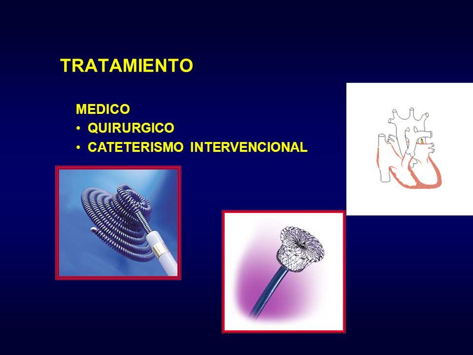 TRATAMIENTO MEDICO QUIRURGICO CATETERISMO INTERVENCIONAL